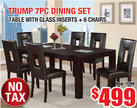 Trump 7pc Dining Set, $499 Tax Included!!!