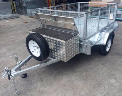 Lockable Tool Box + 7x5 Heavy Duty CageTrailer 6mth Interest Free
