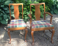 Beautiful CHIPPENDALE Oak Dining Chairs - REDUCED!