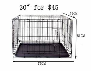 "PET 30""DOG cage crate kennel metal collapsible rabbit cat house Richlands Brisbane South West Preview"