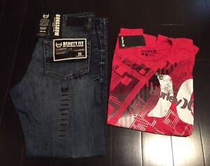 NWT Gongshow Hustle & Flow jeans and Hurley T-shirt