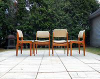 1970's Teak Table Made in Sweden with four Teak chairs
