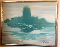 Vintage Abstract - Oil on Canvas Signed Cosmo??
