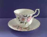 Royal Albert Bone China Un-named Pattern Teacup Set