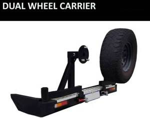 NEW EMUX Dual Spare wheel Carrier, Spare Wheel carrier Bumper