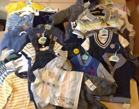 Mixed lot baby clothes with labels