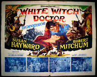 RARE 1953 WHITE WITCH DOCTOR JUNGLE AFRICAN MOVIE POSTER