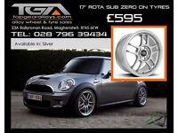 """17"""" Rota Sub Zero on Tyres for a New Mini, Vauxhall Corsa"""