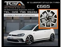"19"" Clubsport Style Alloy Wheels VW Audi Seat ETC"