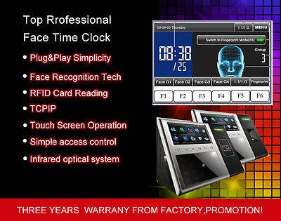 Facialrfid Read Multi-biometric Time Attendance Clockaccess Control Terminal