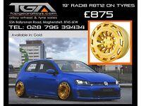 """19"""" Radi8 R8T12 on tyres for a Golf MK5 MK6 MK7 Jetta Caddy ETC"""