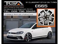 "19"" Clubsport Style Alloy Wheels VW Audi Seat ETC"