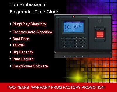 Tcpip Standalone Fingerprint Employee Clock In Clock Out Time Attendance