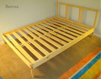 FREE---IKEA Double bed frame all parts NO Mattress