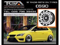 """18"""" Radi8 R8T12 on tyres for a Golf MK5 MK6 MK7 Jetta Caddy ETC"""