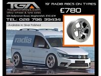 "19"" Radi8 R8C5 on tyres for a Golf MK5 MK6 MK7 Jetta Caddy ETC"