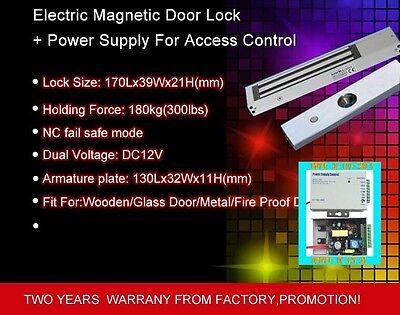 Glass Wooden Door Magnetic Lock 12v Power Professional Supply110v-240v