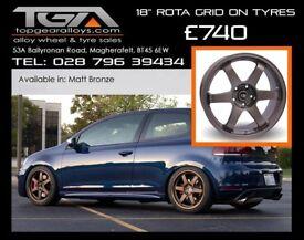 """18"""" Rota Grid on tyres for a Golf MK5 MK6 MK7 Jetta Caddy ETC"""