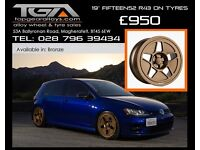 "19"" Fifteen52 R43 wheels on tyres for a Golf MK5 MK6 MK7 Jetta Caddy ETC"