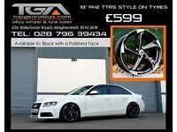 """19"""" PH2 TTRS Alloy Wheels for a VW Passat, Audi A4, Seat Exeo"""