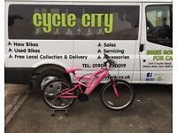 "GIRLS MOUNTAIN BIKE 24"" WHEELS £35"