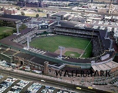 Chicago White Sox Comiskey Park - 1959 Chicago White Sox Old Comiskey Park Aerial Color 8 X 10 Photo Picture