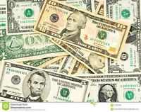 We BUY United States CASH $$$ @ 1.23 Much better than bank rate