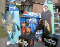 PEPSI STAR WARS EPISODE ONE PHANTOM MENACE 5 CUT OUT COLLECTION