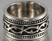 14MM Vintage Styled Heavy Tungsten Carbide Celtic Ring Size 7.5