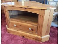 TV STAND SOLID PINE TELEVISION CORNER UNIT