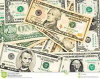 We BUY United States CASH $$$ @ 1.30 Much better than bank rate