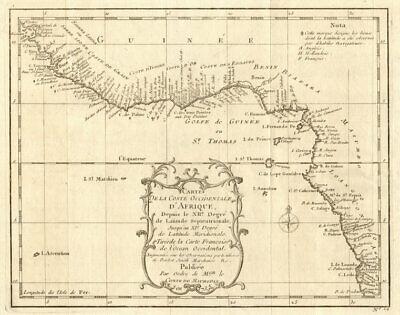 'Coste Occidentale d'Afrique…' West Africa. Gulf of Guinea. BELLIN 1746 map