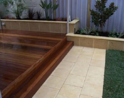 Timber and composite decking landscaping gardening for Garden decking gumtree