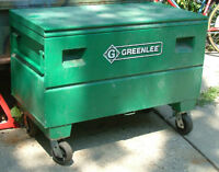greenlee storage box on casters LIKE NEW 250 OBO