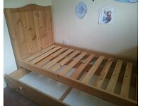 Thuka pine cot bed toddler bed with drawer and free mattress