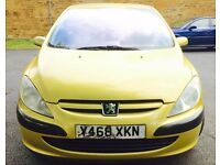 Peugeot 307 1.3 12 month mot 12 month tax very reliable car lady owner low miles £420