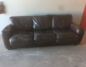 Leather Couch Bed ****Free Delivery****