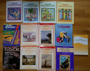 Music Lesson Books (mostly piano)