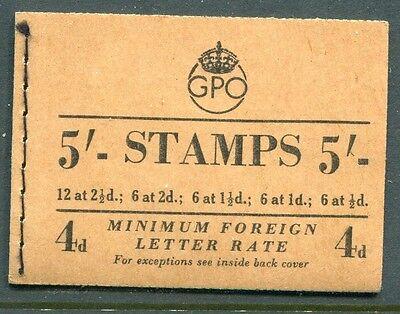 Great Britain - 1953 - 5/- Wilding Booklet - Scott BK67 - SG# H1 - NH