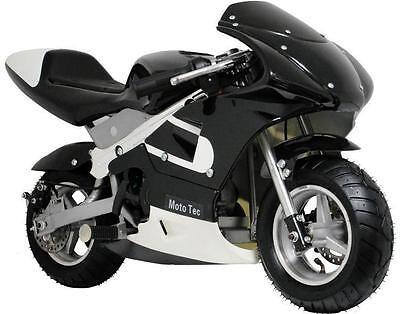 Mototec Gas Pocket Bike  Dirt Bike   Black