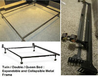 Metal Bed Frame Rails : Various Sizes Available