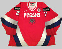 1998 Alexei Kovalev World Championships Russia Game Worn Jersey