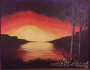 Morning Sunrise - 16X20 Original Acrylic painting