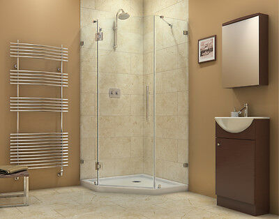 PrismLux Neo Angle Shower Enclosure 40 x 40, Chrome or Brushed Nickel Dreamline Neo Shower Enclosure