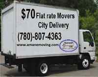 70$ delivery Mover, for Small/Big moves send the list of items f