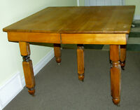 Antique Canadiana 2-Leaf Maple Table