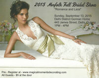 """""""ROMANCE AND LACE""""  NORFOLK FALL BRIDAL SHOW"""