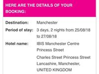 Hotel 2 nights Central Manchester Bank Holiday Weekend