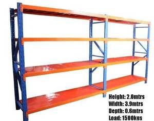 Steel Garage Racking Shelves Metal Work Shelving 3.9m X 2.0 x 0.6 Kelmscott Armadale Area Preview