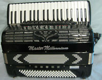 Black master millenium Reedless professional accordion like new